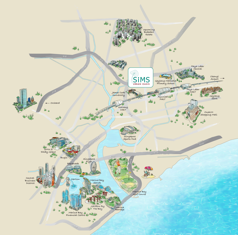 Sims Urban Oasis Location