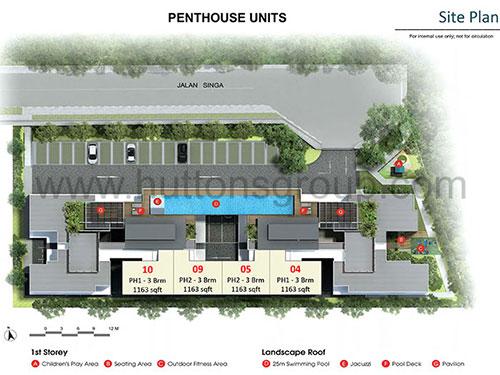 Singa Hills Site Plan for Penthouse Units