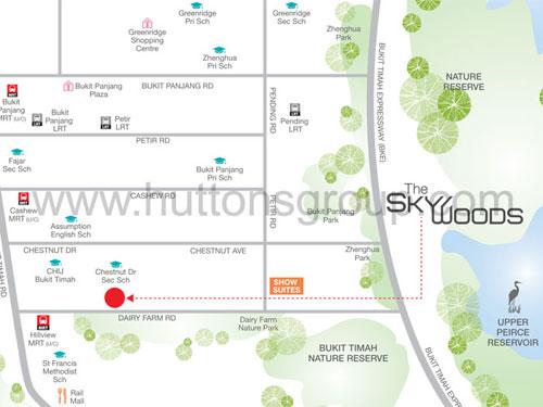 The Skywoods Location