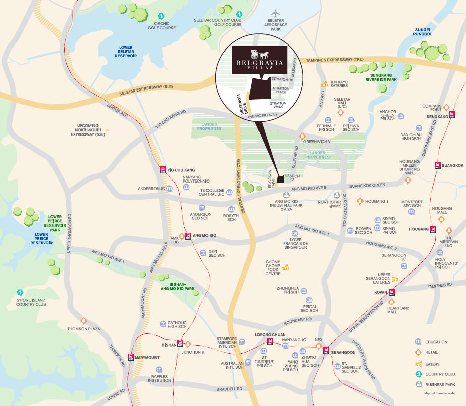 Belgravia Villas Location Map