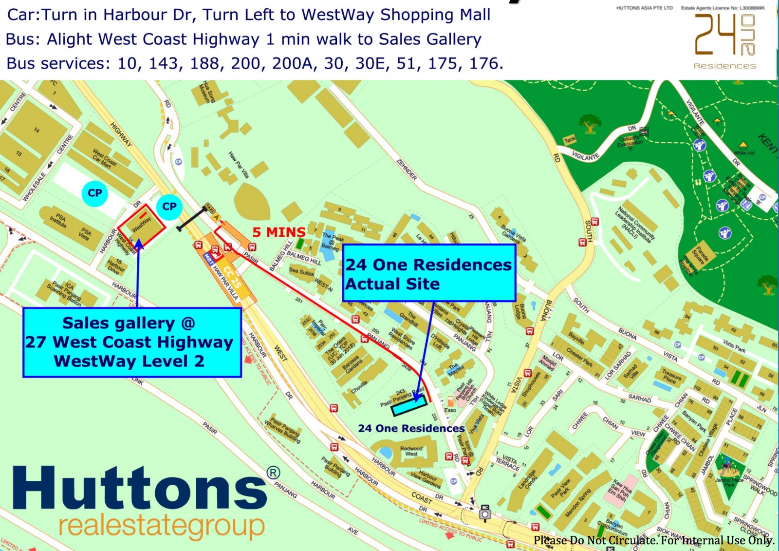 24 One Residences Location Map