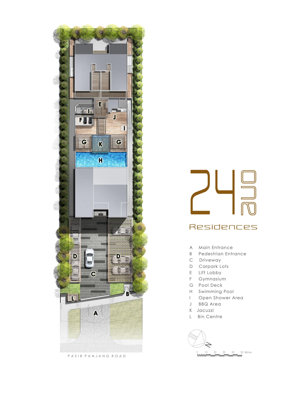 24 One Residences Site Plan